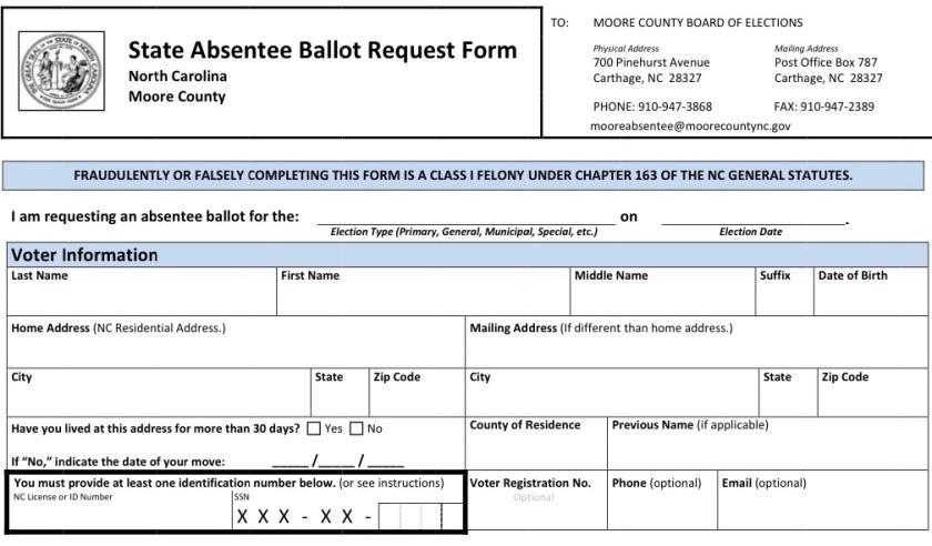Absentee ballot 2018.V2